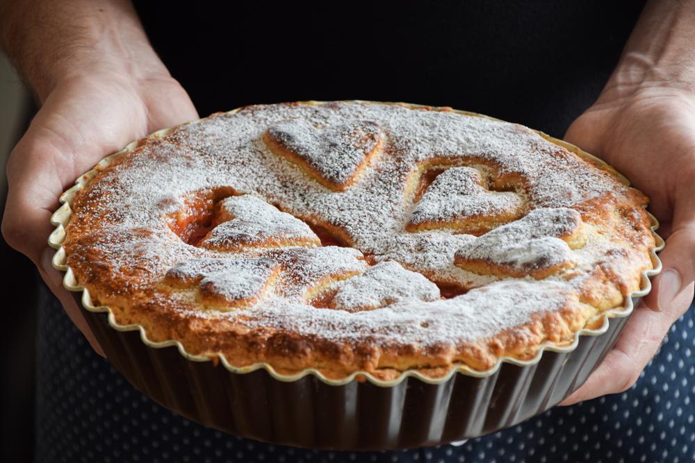 Rebarborový koláč podľa receptu starej mamy